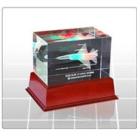 3D Crystal Cube Engraving