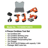 (4-in 1 C) Cordless Power Tools Combo Kits