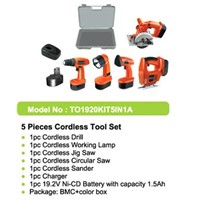 (5-In 1 A) Cordless Power Tools Combo Kits