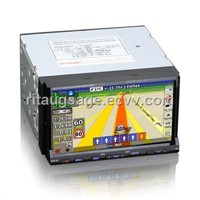 "7"" Double Din Car DVD Player with Detechable Face Panel"