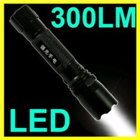 Brand New Bright LED 300 Lumens 3-Mode Flashlight Torch Lamp