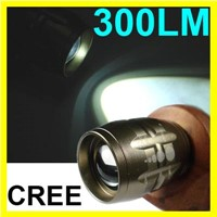 CREE LED 300LM Adjustable Focus Headlamp Flashlight Light Waterproof