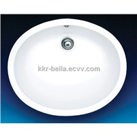Acrylic solid surface bathroom sinks