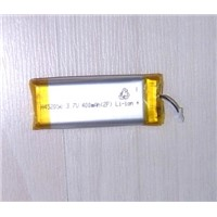 Li-Ion Rechargeable Battery 3.7V 400mAh