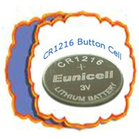 Lithium Lithium Button Battery Cell (CR1216)