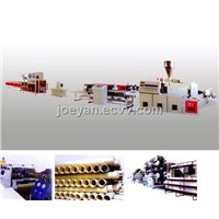 PE/PVC Double Wall Corrugated Pipe Production Line