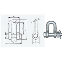 US Type Safety Bolt Chain Shackle