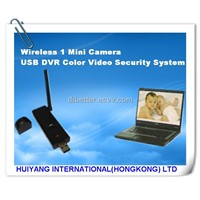 Wireless 1 Mini Camera USB DVR Color Video Security System