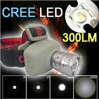 Zoomable Adjustable CREE LED Head Lamp Light Flashlight Torch