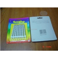 Bigger Silver Spiral Birthday Party Candles H32
