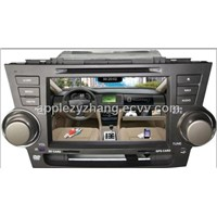 in Dash Car DVD Player and GPS for Toyota Highlander