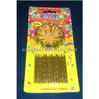 Small Spiral Golden Birthday Party Candles (H64)