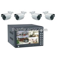 4-CH DVR Kit with 7'' LCD