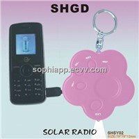 Portable Solar Radio, Solay Keychain, Solar Flashlight
