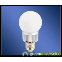 3 x 1W Power LED Bulb Input Voltage of 100 to 240V AC, Made of Aluminum and Glass