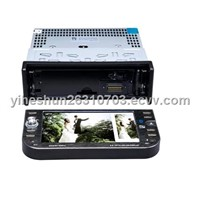 5.6- Inch Digital Touch Screen 1 DIN In-Dash Car DVD Player TV & Bluetooth - IPOD Function