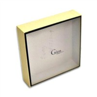 Coated Duplex Gift Box with Plastic Lid Matte Wrinkle Varnish (G-036)