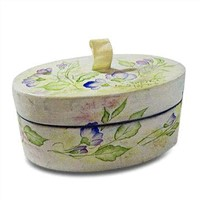Round-Shaped Box with Frosting Embossing Textures & Patterns (ROUD-1)