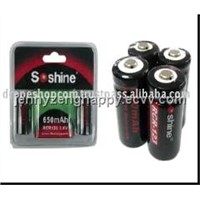 Soshine Li-ion RCR123/17355 Battery (RCR123-01)