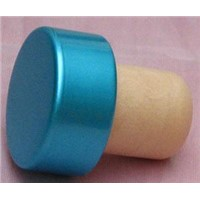 Wine Stopper, Bottle Stopper, Cork Stopper TBEH19-Light Blue