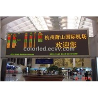 Dual Color LED Sign for Airport
