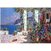 Mediterranean landscape oil painting reproducted for wholesale