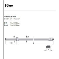 22mm*108mm Chisel Bit Integral Drill Rod
