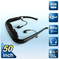 50 inch Video Goggle support external 32g TF card, drop shipping