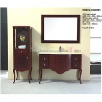 European Style Wooden Bathroom Vanity Granite Counters (8021)