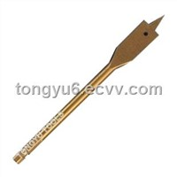 Hexagon Shank With Round Flute Wood Flat Drill Bits,Titanium Coated