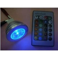 LED Spot Light Bulb - 3W, RGB, MR16