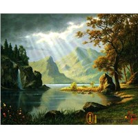 Landscape oil painting reproducted for wholesale