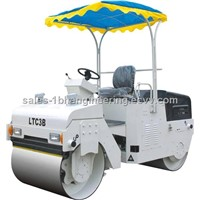 Mechanical drive double drum vibratory roller
