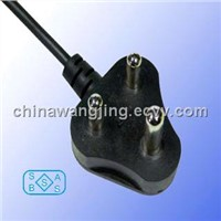 South Africa AC power cords 3 pin plug