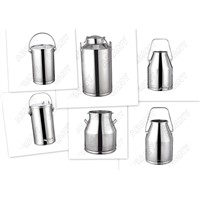 Stainless steel churn