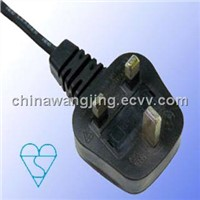 UK BSI Standard AC Power Cord 3 Pin Plug