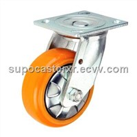 Urethane/Lron Wheel with Double Bearings