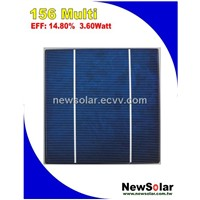 6x6 Poly-crystalline Silicon 14.8% (3.6w) solar cell from Taiwan