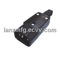 AC POWER MALE PLUG,3P,assembly type , LZ-T-1