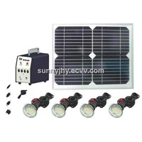 TP003 Solar Home Lighting with 4pcs 3W LED lamps,10W mono solar panel