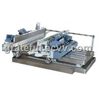 100mm Small-Glass-Sheet Double Edge Grinding Machine With High Precision and High Polishing