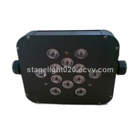 12*3w DJ disco light,dmx flat led par cans,stage light factory