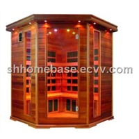4 persons infrared sauna room carbon heaters
