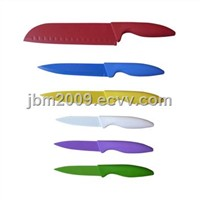 6PCS knife set with color handle