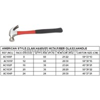 AMERICAN STYLE CLAW HAMMER WITH FIBERGLASS HANDLE