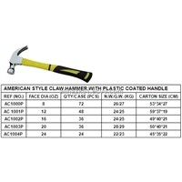 AMERICAN STYLE PLASTIC  COATED HANDLE CLAWHAMMER