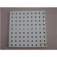 Acoustic perforated ceiling board