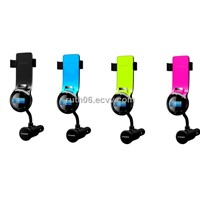 All in one car kit FM transmitter for mobile phone