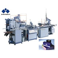 Automatic rigid paperboard box making machine
