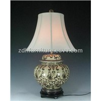 Black Gold Porcelain Lamp